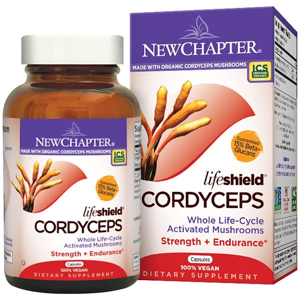New Chapter, LifeShield, Cordyceps, 60 Capsules (Discontinued Item)