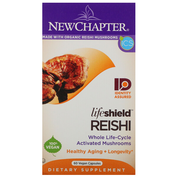 New Chapter, LifeShield, Reishi, 60 Vegan Capsules