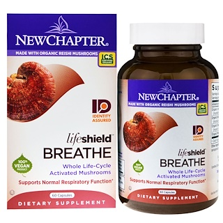 New Chapter, Lifeshield Breathe, 60 Capsules