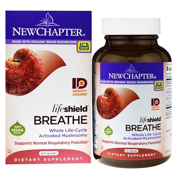 New Chapter, Дыхание от LifeShield, 60 капсул (Discontinued Item)
