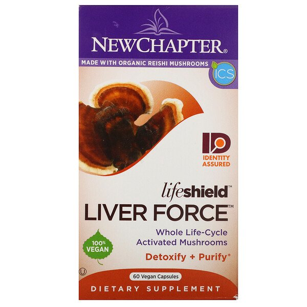 New Chapter, Lifeshield Liver Force, 60 Vegan Capsules (Discontinued Item)