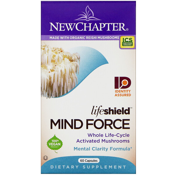New Chapter, LifeShield, Mind Force, 60 Capsules