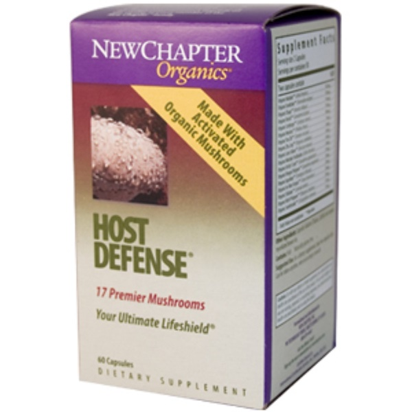 New Chapter, Organics, Host Defense, 60 Capsules (Discontinued Item)