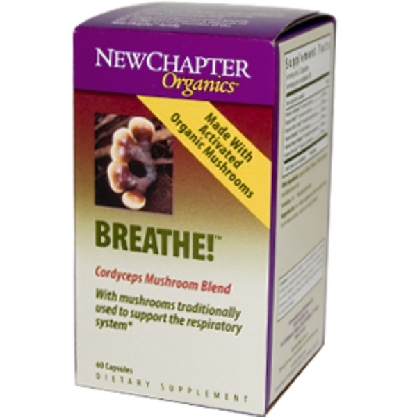 New Chapter, Organics, Breathe!, 60 Capsules (Discontinued Item)