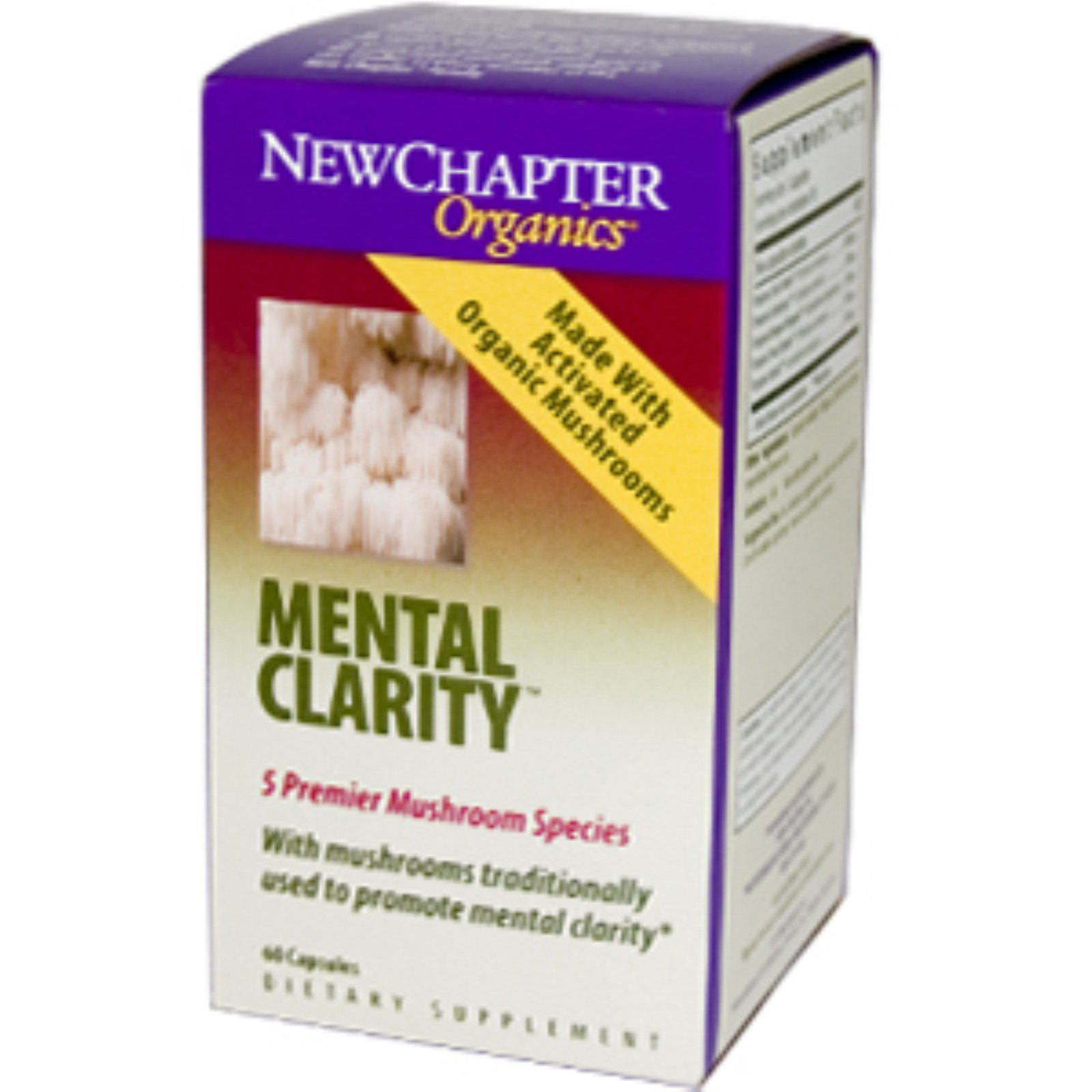 New Chapter Organics Mental Clarity 60 Capsules Discontinued Item