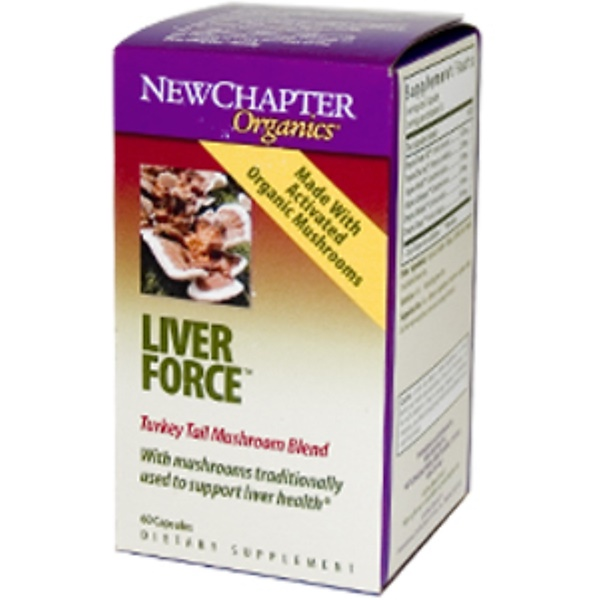 New Chapter, Organics, Liver Force, 60 Capsules (Discontinued Item)