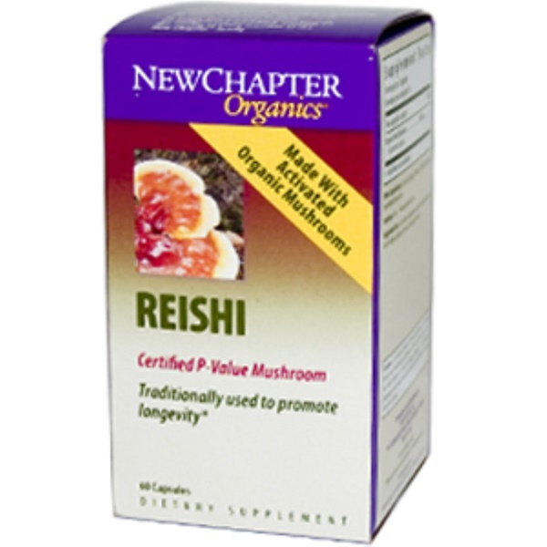 New Chapter, Organics, Reishi, 60 Capsules (Discontinued Item)
