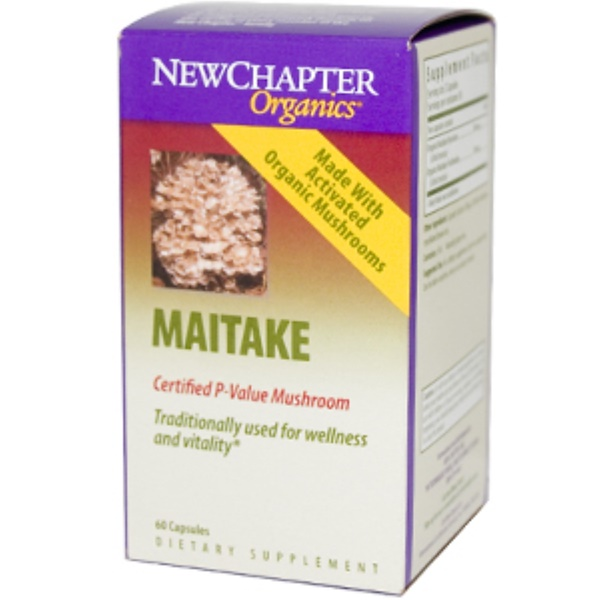 New Chapter, Organics, Maitake, 60 Vcaps (Discontinued Item)