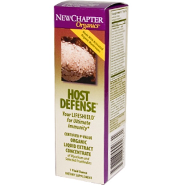 New Chapter, Organics, Host Defense Liquid, 1 fl oz (Discontinued Item)