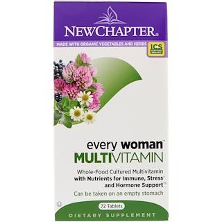 New Chapter, Every Woman, Multivitamínico, 72 tabletas
