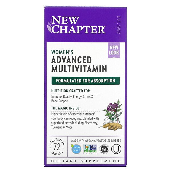 New Chapter, Women's Advanced Multi, 72 Vegetarian Tablets
