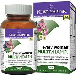New Chapter, Мультивитамины для женщин, 120 таблеток