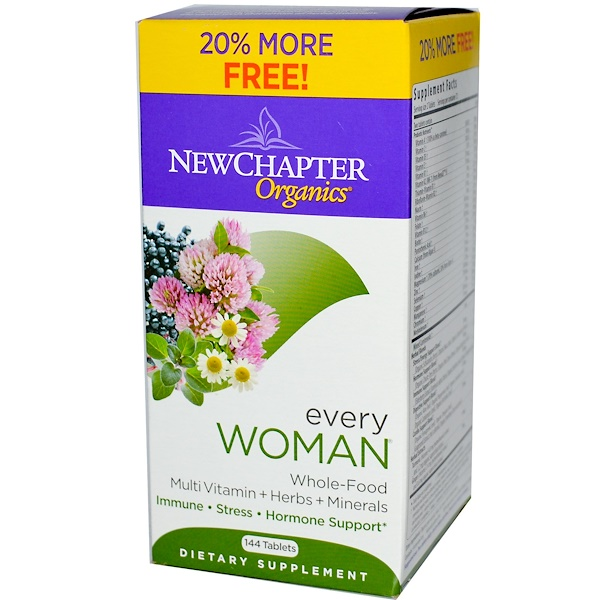 New Chapter, Organics, Every Woman, 144 Tablets (Discontinued Item)