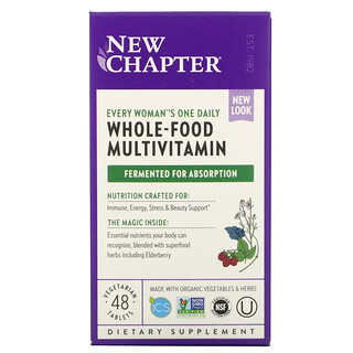 New Chapter, Every Woman's One Daily Whole-Food Multivitamin, 48 Vegetarian Tablets