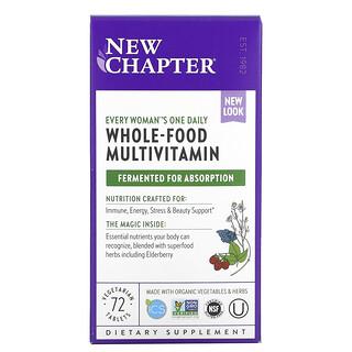 New Chapter, Every Woman 女性每日一片,全食物多维生素,72 片素食片