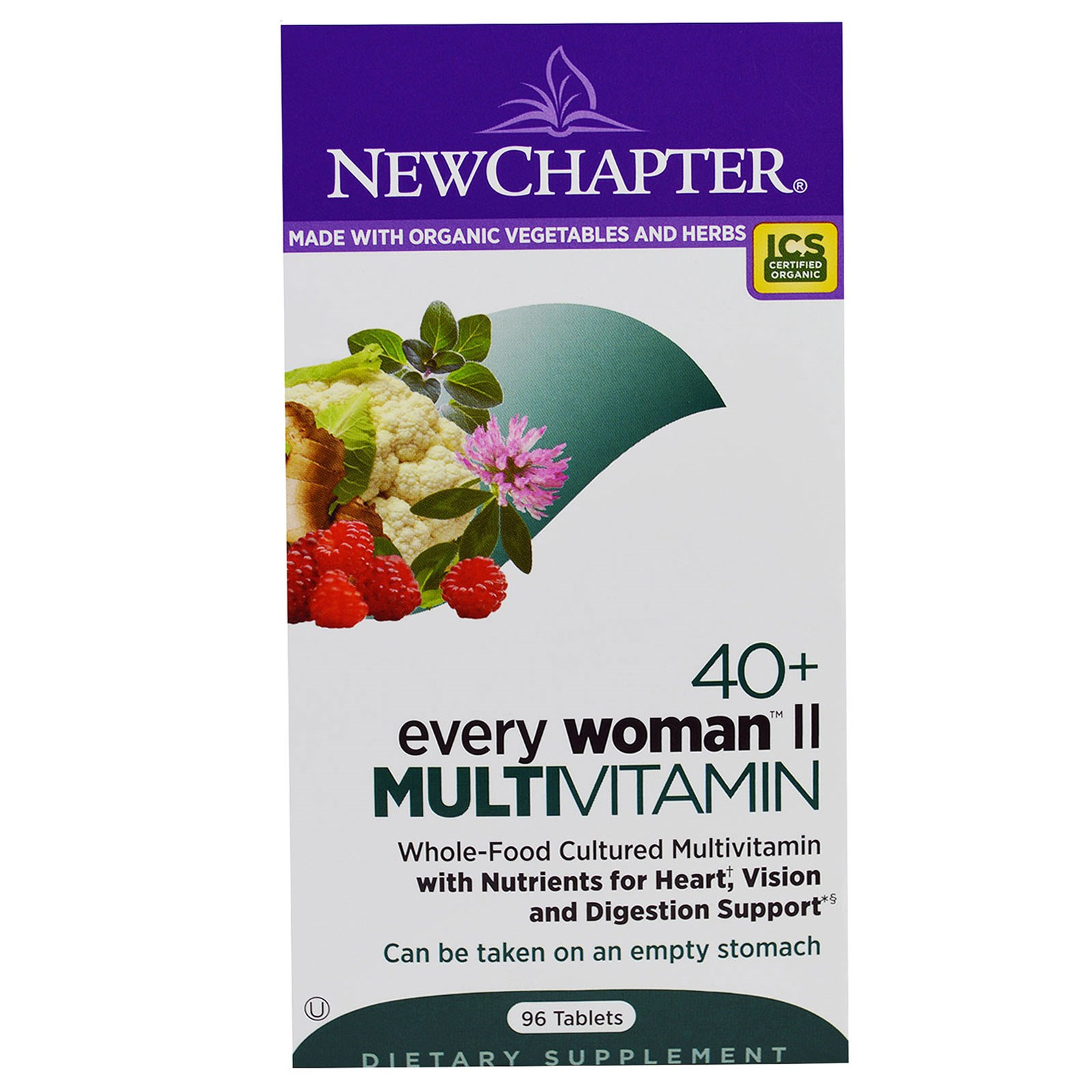 New Chapter, 40+ Every Woman II, Multivitamin, 96 Таблеток