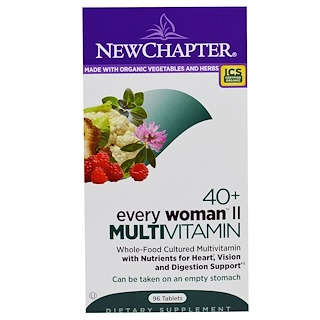 New Chapter, 40+ Every Woman II, Multivitamin, 96 Таблеток