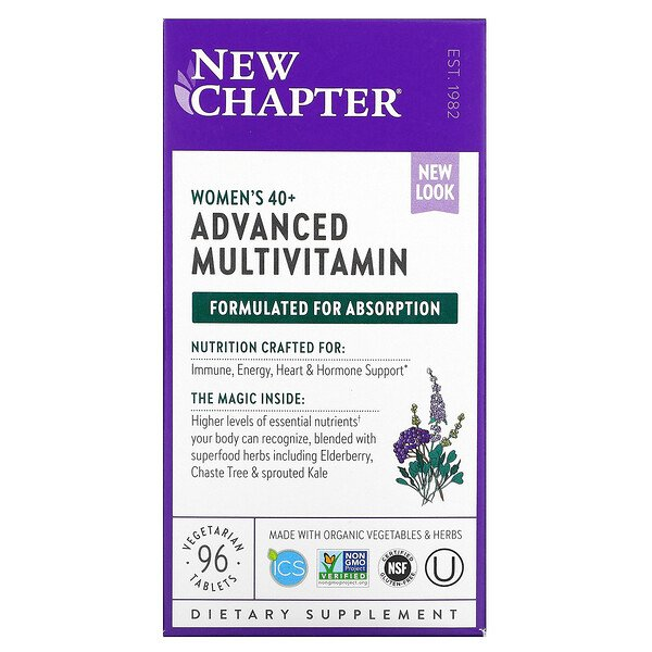 New Chapter, Women's 40+ Advanced Multivitamin, 96 Vegetarian Tablets