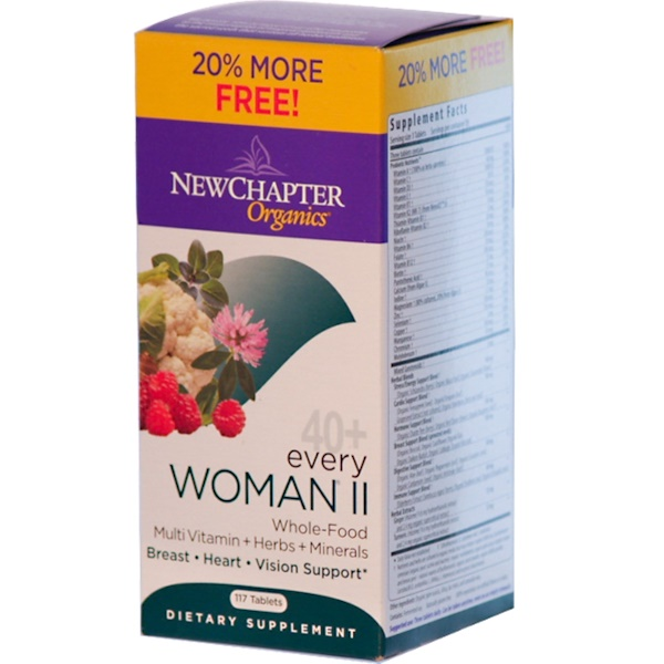 New Chapter, Organics, 40+ Every Woman II, 117 Tablets (Discontinued Item)