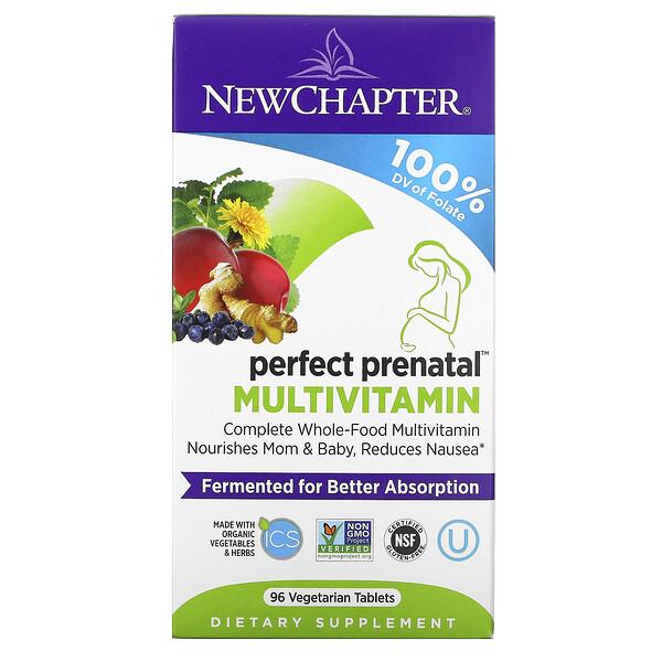 Multivitamínico prenatal perfecto, 96 tabletas vegetarianas