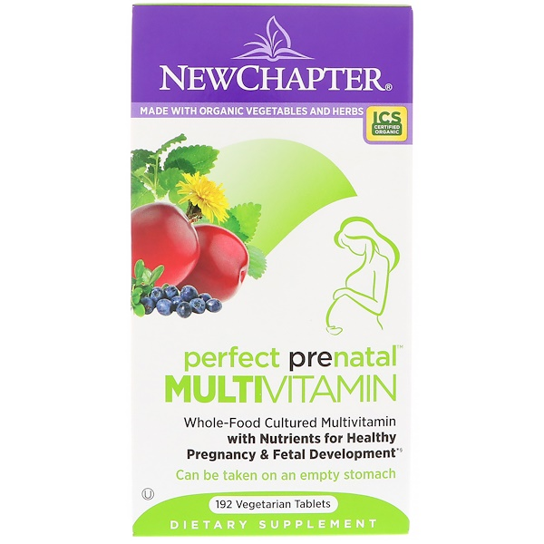 New Chapter, Multivitamine Perfect Prenatal, 192 comprimés végétariens