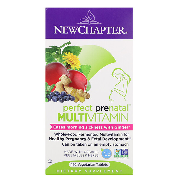 Perfect Prenatal Multivitamin, 192 Vegetarian Tablets