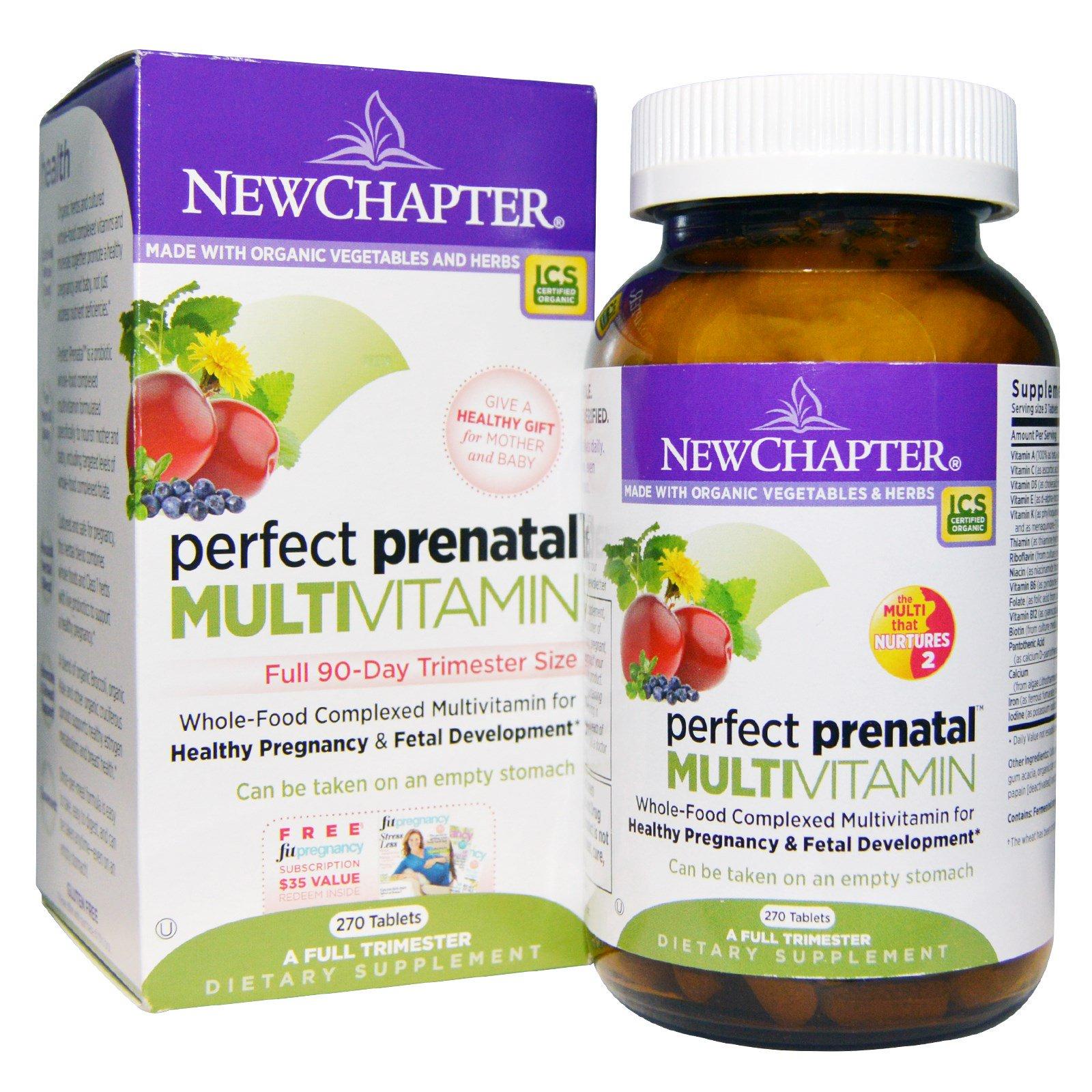 New Chapter, Идеальный пренатальный мультивитамин, 270 таблеток