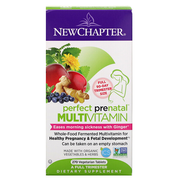Perfect Prenatal Multivitamin, 270 Vegetarian Tablets