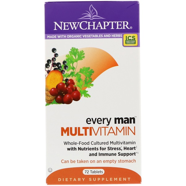 New Chapter, Every Man Multivitamin, 72 Tablets