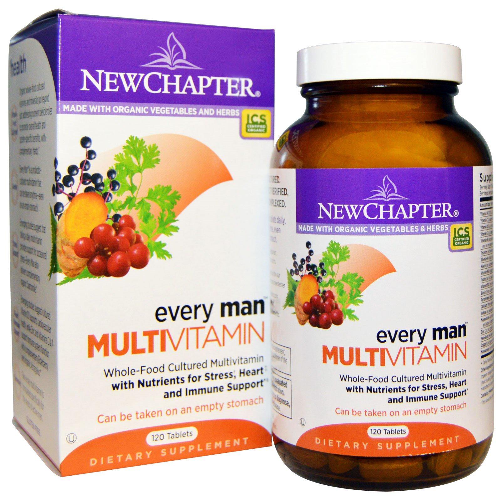 New Chapter, Every Man, мультивитамины для мужчин, 120 таблеток
