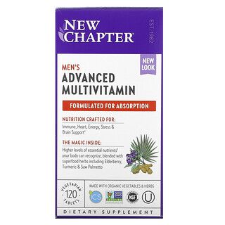 New Chapter, Men's Advanced Multivitamin, 120 Vegetarian Tablets