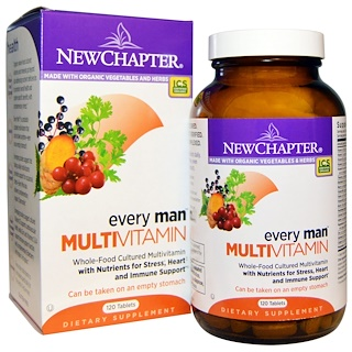 New Chapter, Every Man Multivitamin, 120 Tablets