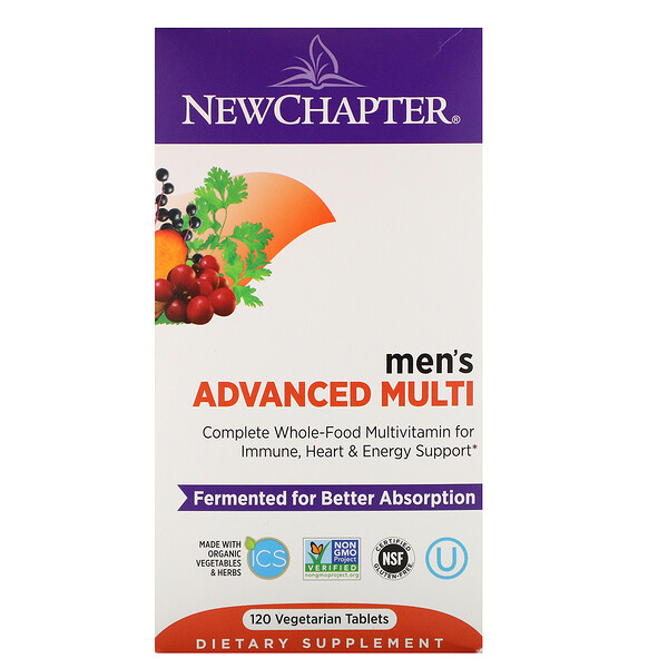 Men's Advanced Multi, 120 Vegetarian Tablets