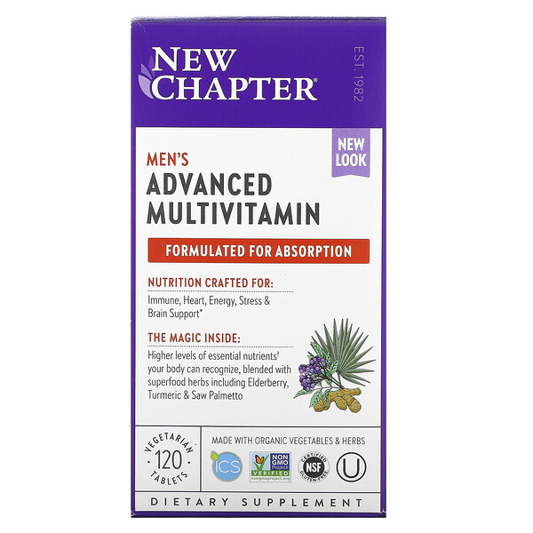 Men's Advanced Multivitamin, 120 Vegetarian Tablets