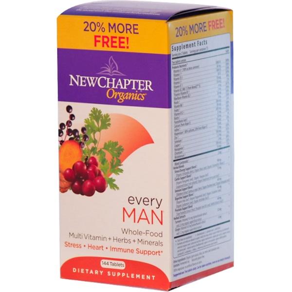 New Chapter, Органика, Комплекс для мужчин, 144 таблетки (Discontinued Item)