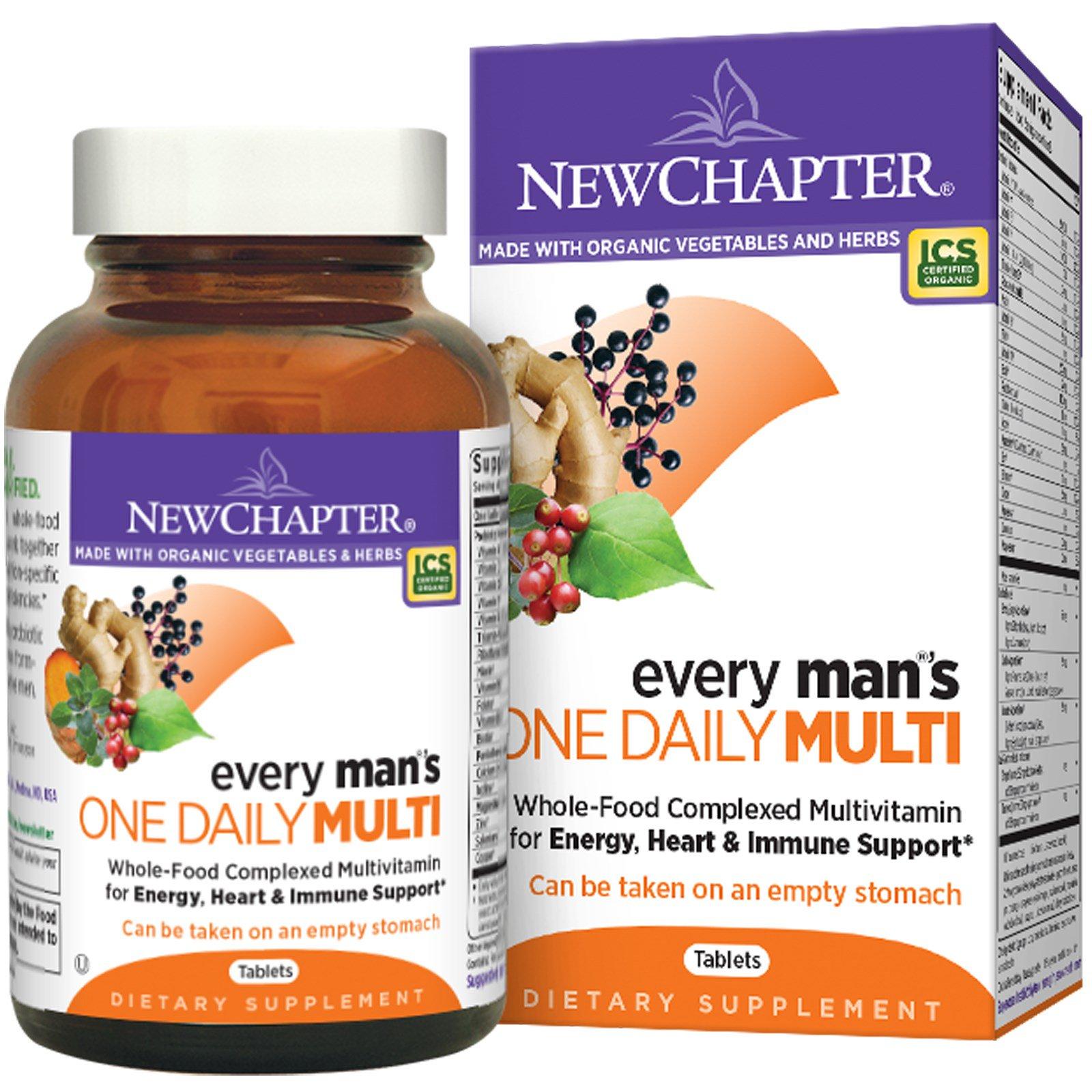 New Chapter, Мультивитамины для мужчин «одна таблетка в день», 48 таблеток