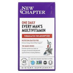 New Chapter, 男性專用每日綜合維生素素食營養片,48 片裝