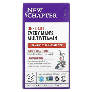 New Chapter, One Daily Every Man's Multivitamin, 48 Vegetarian Tablets