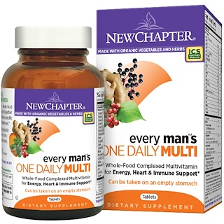 New Chapter, Every Man's One Daily Multi, 48 Tablets
