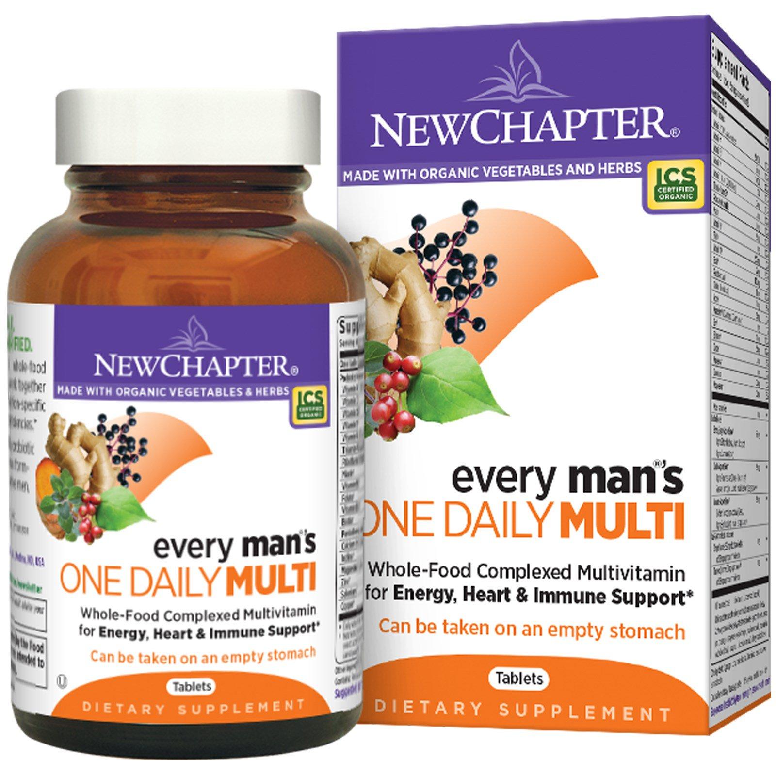 New Chapter, Every Man's One Daily Multi, мультивитамин, 72 таблетки