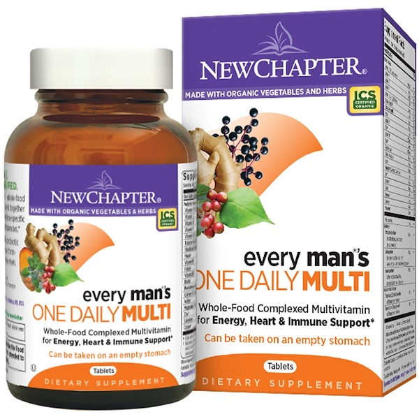 New Chapter, Every Man's One Daily Multi, 72 Tablets