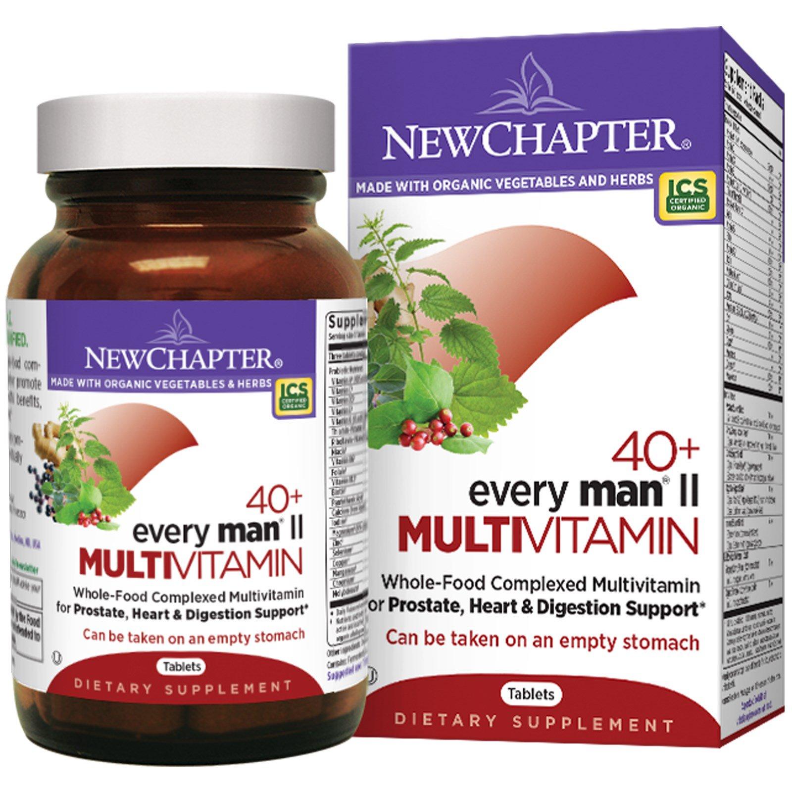 New Chapter, Мультивитаминный комплекс для мужчин за 40, 96 таблеток