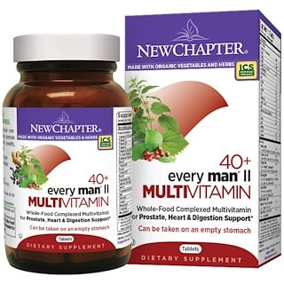 New Chapter, 40+ Every Man II Multivitamin, 96 Tablets