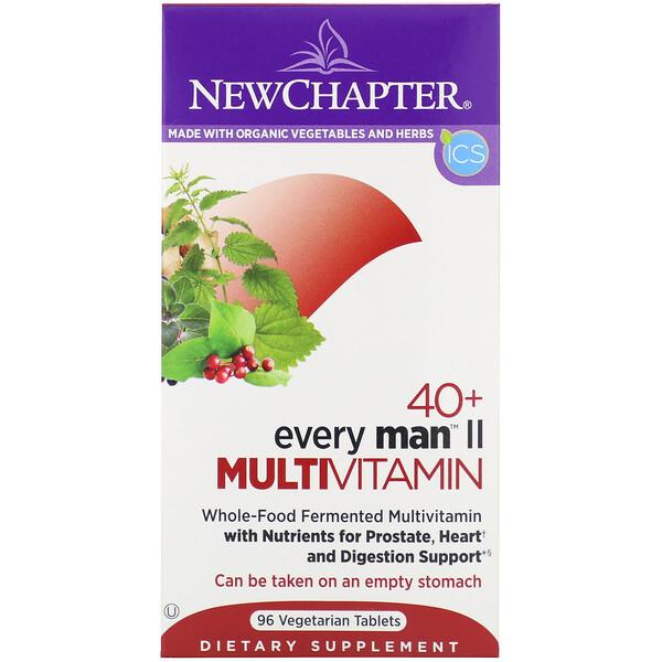 40+ Every Man II Multivitamin, 96 Vegetarian Tablets