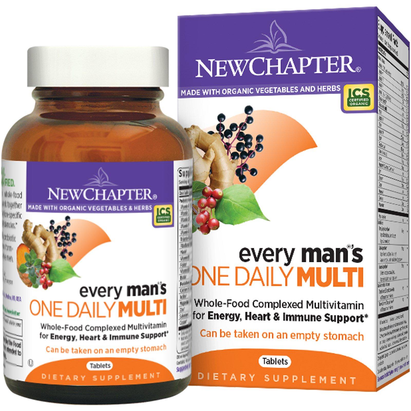 New Chapter, Мультивитамины для мужчин «одна таблетка в день», 96 таблеток