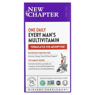 New Chapter, Every Man's One Daily Multivitamin, 96 Vegetarian Tablets