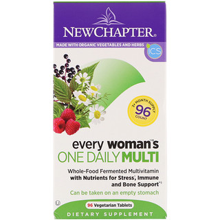 New Chapter, Мультивитамины для женщин «одна таблетка в день», 96 таблеток