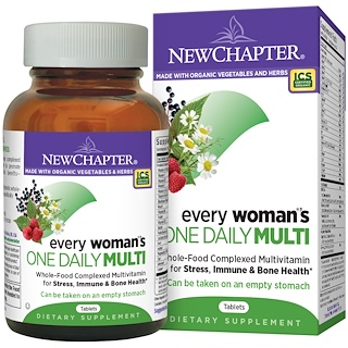 New Chapter, Multivitamina Every Woman's Una al Día, 96 Tabletas