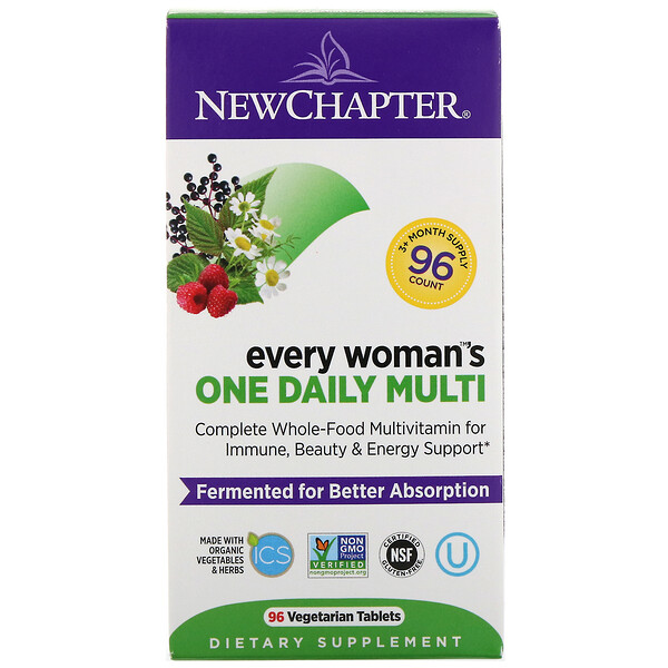 New Chapter, Every Woman's One Daily Multi, 96 Vegetarian Tablets