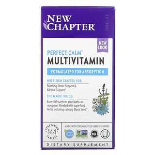 New Chapter, Perfect Calm, мультивитаминный комплекс, для снятия стресса 144вегетарианских таблетки